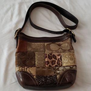 Coach patchwork leather crossbody